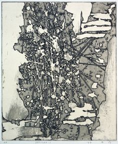 UNTITLED-1 copperplate print (etching) with chine collé 林孝彦 HAYASHI Takahiko 1982