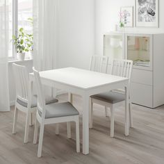 Kitchen Living Room IKEA - EKEDALEN / Table and 2 chairs white, Orrsta light gray - IKEA -Table and 2 chairs white, Orrsta light gray Min. At Home Furniture Store, Modern Home Furniture, Living Room Furniture, Furniture Online, Luxury Furniture, Chaise Ikea, Ikea Chair, Ikea Couch, Ikea Dining