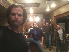 """252 Likes, 1 Comments - """"Where's your Moose?"""" (@mishacklecki67) on Instagram: """"Jared, Misha, Jensen, Rob & Misha's legs spread wide open  haha-lyss #supernatural…"""""""