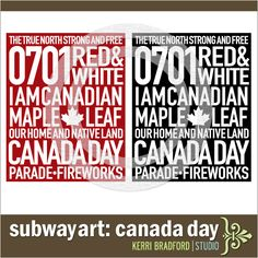 Canada Decor Canada Day Crafts, Canada 150, Subway Art, Project Life, Baby Room, Celebration, Printables, Signs, Prints