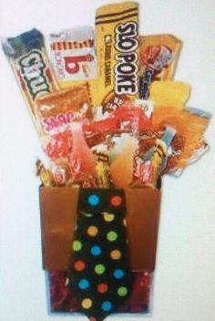 Candy bouquet. Great idea.