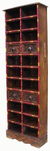 antik-look orient Massive CD Regal DVD Schrank für 198 St. CD,s shelf Storage