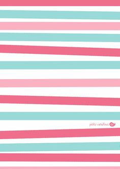 Des jolis papiers cadeaux pour la Saint-valentin ! par petits-canaillous.fr Striped Walls, Company Logo, Logos, Pattern, Diy, Unicorn, Valentines Day Treats, Wrapping Papers, Stripe Walls