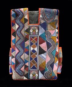 Africa | Tunic from the Yoruba people of Nigeria; Possibly Baba Adesina family workshop | Cotton and glass beads | Early 20th century