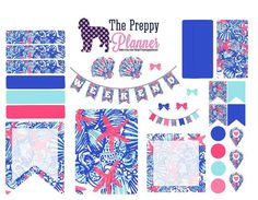 Lilly Pulitzer Inspired Weekly Set Up You Pick the Print Planner Stickers for Filofax, Kikki K, Erin Condren, ECLP ECLP  I will custom make each