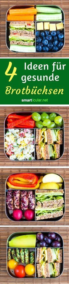 Simple and healthy lunch box ideas for kids- Einfache und gesunde Lunchbox-Ideen für Kinder Children& products are too expensive and unhealthy? Give your child a lunch box with healthy ingredients at school or in the daycare. Lunch Snacks, Healthy Snacks, Healthy Recipes, Lunches, Healthy Nutrition, Healthy Weeknight Dinners, Easy Meals, Food To Go, Food And Drink