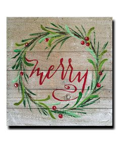 Take a look at this 'Merry' Giclée Wrapped Canvas today!