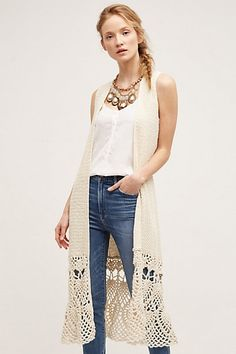 Crochet Garden Duster #anthropologie