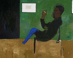 Henry Taylor, Eldridge Cleaver, 2007 Acrylic on canvas 75.75 x 94.75 inches