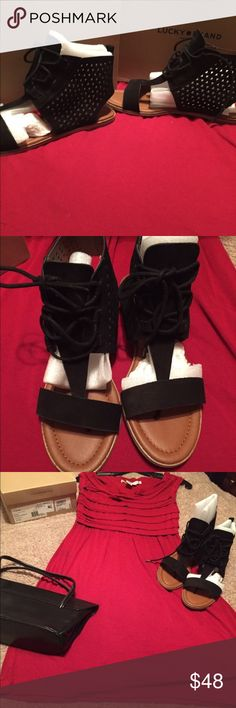 NWT! Brand new Lucky Brand sandals 8.5 Beautiful pair of gladiator sandals by Lucky Brand. Brand new in the box. These could go with any outfit! Lucky Brand Shoes Sandals