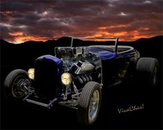 Low Boy Roadster Meets Morning's Rosy Glow After Being Out All Night - Read the Blog ~:0) VivaChas!