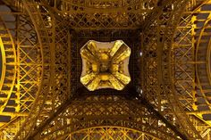 From below the Eiffel Tower! Interesting shot.