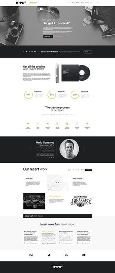 Hypno - Modern, Responsive WordpPress Theme on Behance