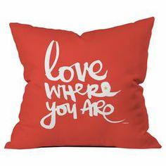 Let yourself choose love in this moment. :: artist Kal Barteski for DENY Designs