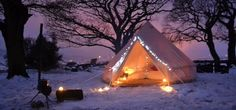 Christmas in a bell tent