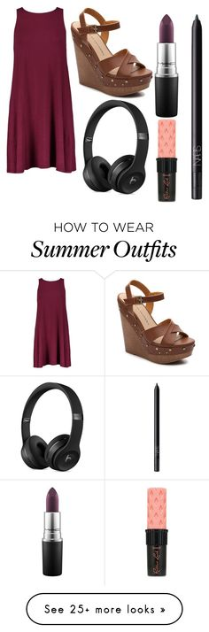 """Summer Outfit: Baekhyun"" by scarletpeak on Polyvore featuring Chinese Laundry, MAC Cosmetics, Benefit and NARS Cosmetics"