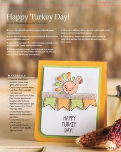 Thanksgiving Card Maker Magazine