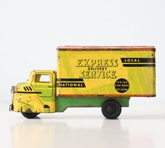 Hey, I found this really awesome Etsy listing at https://www.etsy.com/listing/216370109/vintage-wyandotte-truck-express-delivery