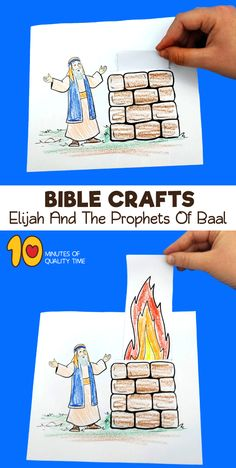 Elijah And The Prophets Of Baal Craft Bible Story Crafts, Bible School Crafts, Bible Crafts For Kids, Bible Lessons For Kids, Sunday School Projects, Sunday School Activities, Bible Activities, Sunday School Lessons, Elijah Bible