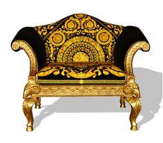 Craving a Versace Chair Casa Versace, Versace Mansion, Versace Home, Versace Versace, Gianni Versace, Unique Furniture, Home Furniture, Furniture Design, Italian Furniture