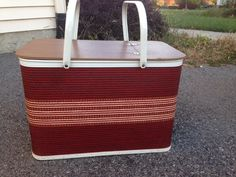 A personal favorite from my Etsy shop https://www.etsy.com/listing/252886768/picnic-basket-with-riser-mint