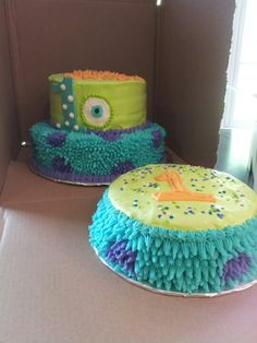 Monsters Inc. cake & smash cake