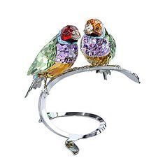 LOVE. Gouldian Finches from #Swarovski