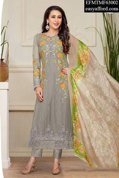Today's Price Rs 2485/- For Order Call/Whatsapp 07837409851, 08968017642 or Click the below link http://easyafford.com/palazzo-suits/1913-karishma-kapoor-delicate-taupe-palazzo-suit.html  #OnlineDesignerSuit #LatestPalazzoSuit #KarishmaKapoorSuit #OnlineSalwarSuit #EthnicWear #IndianWear #BuyDesignerSuits #BuyIndianSuits #GeorgetteSuits #OnlineShopping #MarriageShopping #PartywearSuit #BollywoodSuits #DivasSuit #OnlineEmeboideredSuits