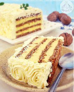 Cake Roll Recipes, Fun Baking Recipes, Sweet Recipes, Dessert Recipes, Brze Torte, Kolaci I Torte, Walnut Cookie Recipes, Sugar Free Baking, Torte Recipe