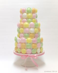Sweetie cake.  A yummy cake decorated in flying saucer sweets from Look-O-Look.