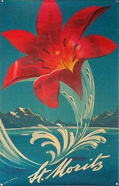 St. Moritz, 1958 poster