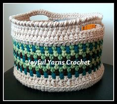 This basket pattern is really versatile! The pattern is written for several diameters, and the height can be whatever you choose!