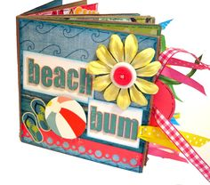 Beach Bum Paper Bag Scrapbook by apicketfencelife