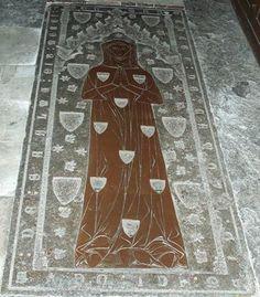 Brass of Margaret de Camoys ca 1310-15, Trotton Church near Midhurst Sussex. Inscription: MARGARETE : DE : CAMOYS : GIST : ICI: DEVS : SAALME : EIT : MERCI : AMEN Photographed by Euan Dixon-Smith