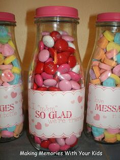 Making Memories ... One Fun Thing After Another: Sweet Candy Bottles {Free Printable}