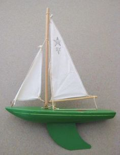 Rare-Vintage-Birkenhead-SY-1-Star-Yacht-Pond-Boat-Ship-Made-in-England