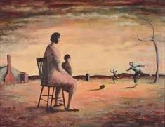 A football game, painting by Russell Drysdale - An Art History of Australia - Culture Victoria Australian Painting, Australian Artists, Dark Landscape, Plates For Sale, True Art, Sports Art, Van Gogh, Art History, Landscape Paintings
