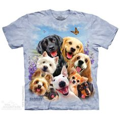 Dogs Selfie T-Shirt by Howard Robinson | TheMountain.com