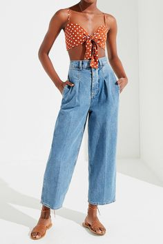 BDG High-Rise Pleated Carrot Jean | Urban Outfitters