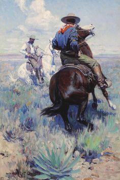 WILLIAM HERBERT DUNTON, Across the Intervening Desert the Eyes of the Two Men Met in Grim Defiance