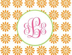 Personalized Monogram Folded Note Cards (A2) on Etsy, $10.50