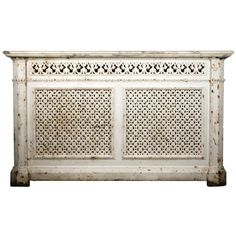 Large Victorian, Ornate Antique Cast Iron Radiator Cover | From a unique collection of antique and modern architectural elements at https://www.1stdibs.com/furniture/building-garden/architectural-elements/