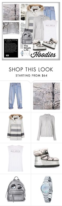 """""""Hoodie"""" by terry-tlc ❤ liked on Polyvore featuring Levi's, Woolrich, Le Kasha, good hYOUman, Jimmy Choo, Chiara Ferragni, Cross, Michael Kors, women's clothing and women's fashion"""