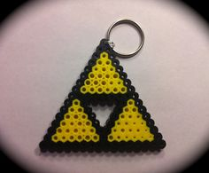 legend of zelda triforce perler keychain by adventuresingeekery. $5.00, via Etsy.