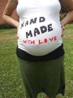 DIY, t-shirt for pregnants