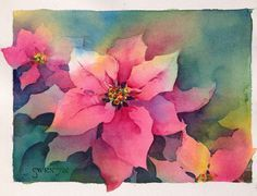 Brenda Swenson: Poinsettia: Negative Painting Demonstration
