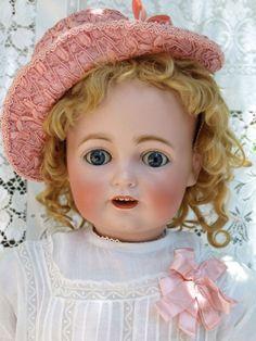 "Gorgeous! Antique Kestner child size bisque German doll JDK 260 32"""