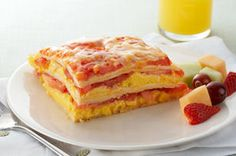 Tower, pile or stack...no matter what you call layers of egg, cheese, tortilla and fresh tomato, you gotta also call it one of the best brunch recipes ever.