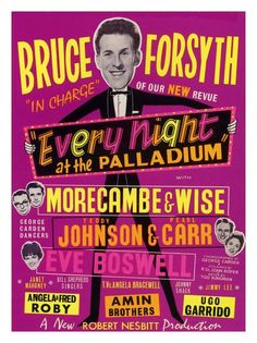 Vintage Theatre Poster - London Palladium  - 1950s