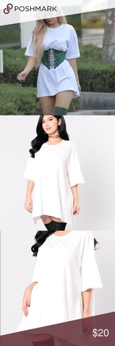 Fashion nova sweet talk tee Kylie Collection Available in Black and White Oversized Tee Dress Basic Shirt Made in USA 95% Cotton 5% Spandex Fashion Nova Tops